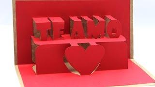 """Hoy te enseño como armar esta tarjeta Pop Up con el mensaje """"Te amo"""" es fácil de hacer solo presta atención, solo materiales que necesitas son:  Dos cartulinas de 200 o 250 gramos. Un cutter o cuchilla. Una regla. Pegamento. y el molde que lo puedes descargar de aquí http://bit.ly/1e1UBzQ  (English) Today I show you how to assemble this Pop Up card with the message """"I love you"""" is easy to do just pay attention, only materials you need are:  Two cardboard 200 or 250 grams. A cutter or knife. A rule. Glue. and the mold that you can download from here http://bit.ly/1e1UBzQ   Suscribete y se parte de Jeguridos ES GRATIS: http://bit.ly/YTS_jeguridos  Otras ideas que puedes ver   Mas tarjetas Pop Up creativas.... http://www.youtube.com/watch?v=8Of2JI1Jrh0&list=PL488E495DF00E234F kirigami, origami y algo mas http://www.youtube.com/watch?v=QRrUi7Ilsjk&list=PLP7FYRZ3yk6clGwK8VIrbtj_Uk9V24O98 packing creativo http://www.youtube.com/watch?v=hQMZYoG0-BU&list=PLP7FYRZ3yk6fHLj_oS7NMVeW3tZQS4eFy  Quieres aun mas visita estos sitios   + Ideas creativas en el blog http://bit.ly/B_jeguridos Sorpréndete con lo Nuevo en Google+ http://bit.ly/GP_jeguridos Charlemos en Twitter http://bit.ly/T_jeguridos Comparte tu obra en Facebook http://bit.ly/FB_jeguridos Inspirare en Pinterest  http://bit.ly/P_jeguridos  Si deseas contactarte conmigo o enviarme fotos de tus trabajo: craftsJeguridos@gmail.com  copyright © Juan Marín """"Jeguridos""""  Música: """"Microchip"""" De la biblioteca de audio de youtube"""