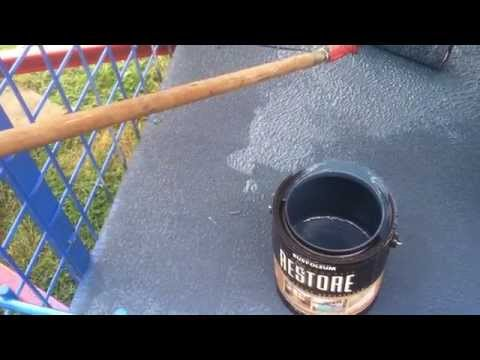 Trailer deck paint with Rustoleum Deck Restore Paint/Stain