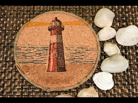 DIY Lighthouse Cork Coasters