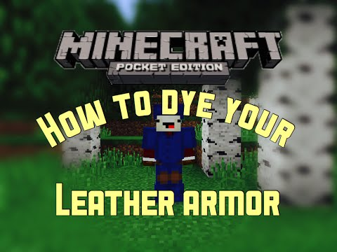 ✔️Minecraft PE | How to dye your Leather Armor
