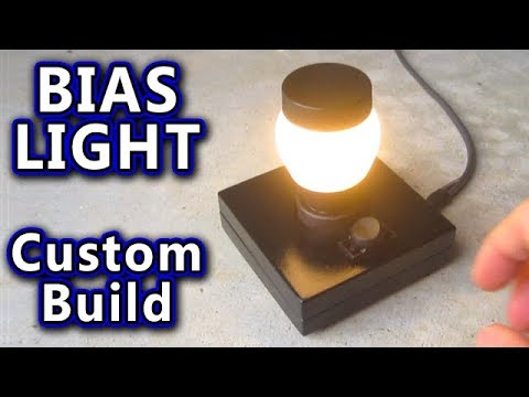 BIAS LIGHT behind PC Gaming Monitor CUSTOM BUILT desk lamp tv woodworking electronics build