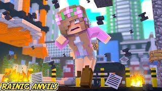 CLOUDY WITH A CHANCE OF ANVILS?! | Minecraft Little Kelly