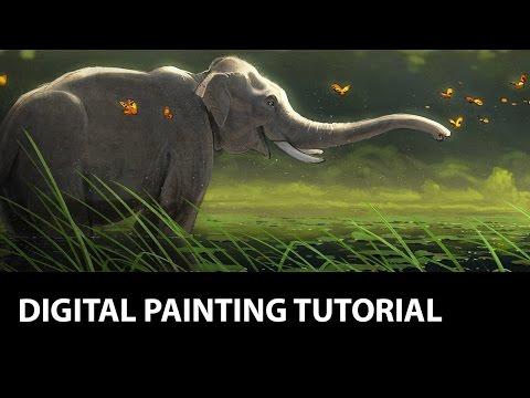 Digital Painting Tutorial - Photoshop / Elephant