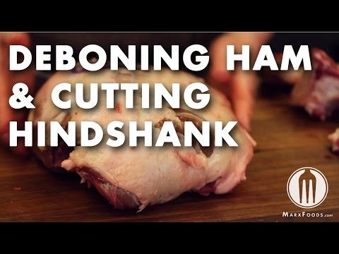 Wild Boar Butchery - Deboning Ham & Cutting Hindshank Video