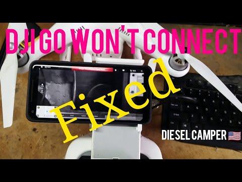 FIXED- DJI Go App Won't Connect to phone or tablet  DJI Phantom 3