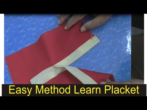 HOW TO MAKE PERFECT PLACKET /EASY METHOD/button front placket