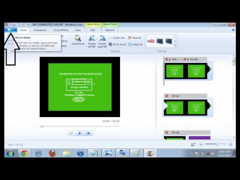 how to put a windows live movie maker movie in full screen