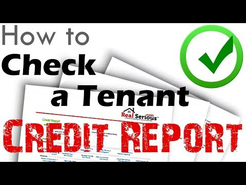 How to Check a Tenant Credit Report | American Landlord