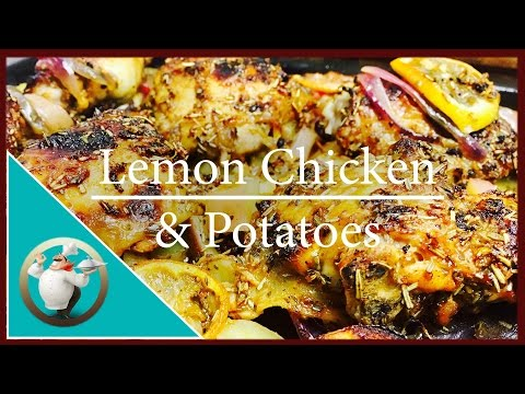 How to make Lemon Chicken & Potatoes | Easy Greek Lemon Chicken Recipe