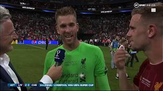 """Welcome to Liverpool! It's been a crazy week!"" Adrian speaks after the penalty shoot-out!"