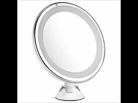 Lighted Makeup Mirror, Oak Leaf Adjustable 360 Degree Rotating Shaving Shower Mirror with 7X Maginif