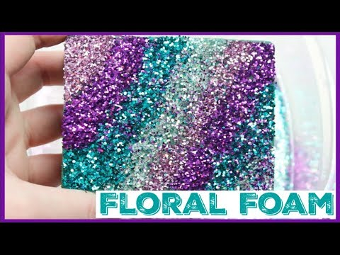 Soaked/Wet Glitter Floral Foam Crushing ASMR + How to make it