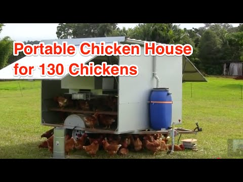 Portable Chicken house for 130 Chickens