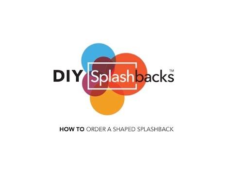 How to order an Upside-Down T Splashback on glass splashbacks.com