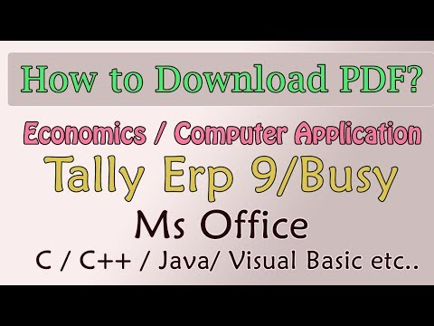 Download PDF ? How to Become Member - Step by Step | Learn Tally | Computer Application in Business