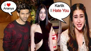 Download Kartik Aryan Rejects Sara Ali Khan & Choses Ananya Panday As Valentines Date Video