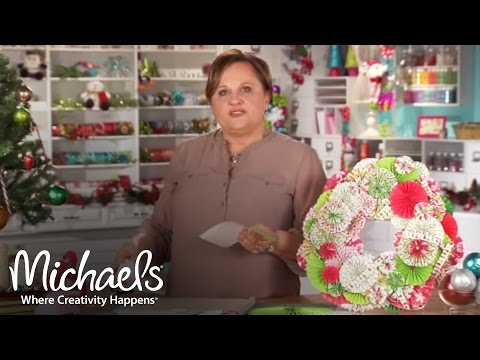 Pleated Paper Rosettes | 2011 Holiday | Michaels