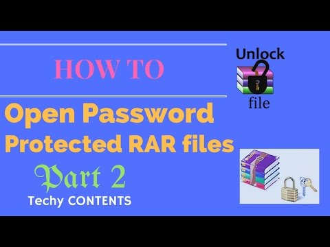 How to Unlock Password Protected RAR file | Part-2