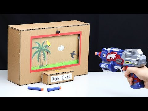 How to Make BIRD SHOOTING Game from Cardboard
