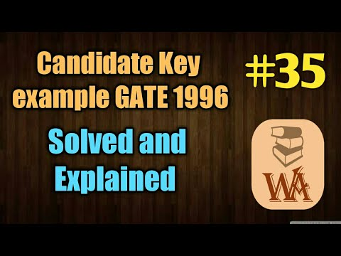 Candidate key GATE 1996 | candidate key in dbms in hindi | well academy #35