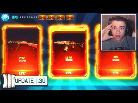 4 new dlc weapons supply drop opening... (black ops 3)