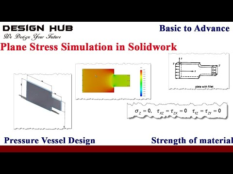 Plane stress analysis using solidwork