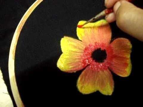 How To learn Fabric Painting - Class 5 - Busma Ahsan