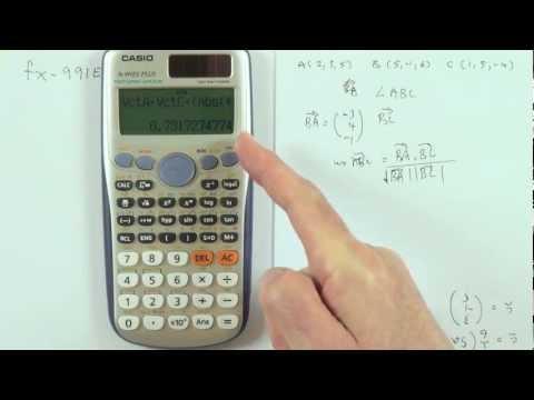 Vector calculations on the Casio fx991es plus calculator