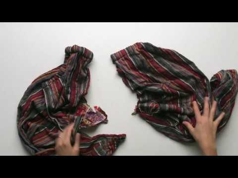 Make Holiday Gift Wrap out of old clothes