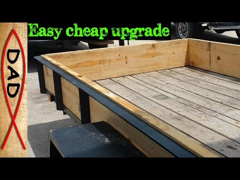 DIY utility trailer - sides and ramps for cargo