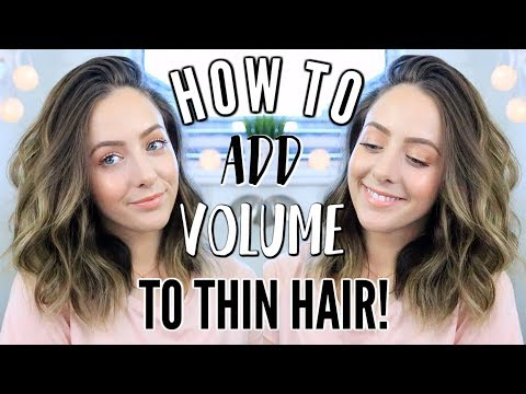 How To Add Volume To Thin Hair!