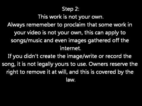 4 Steps:How to avoid getting your video removed for copyright