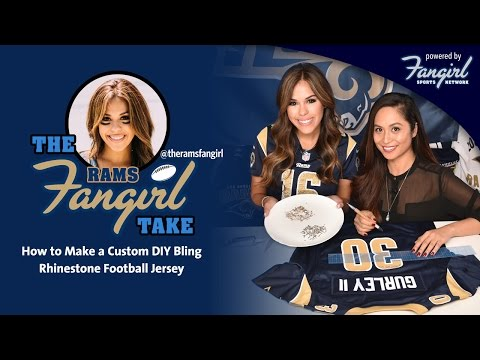 How to Make a Custom DIY Bling Rhinestone Football Jersey | Rams Fangirl