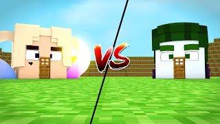 CASA ARLEQUINA vs CASA CORINGA !!! - MINECRAFT