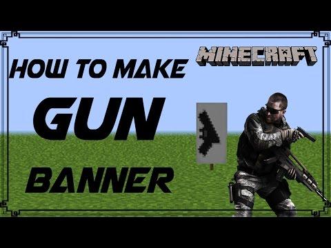 Minecraft | How to make Gun Banner | Mangoman