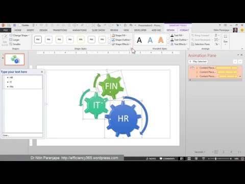 Powerpoint Gear Animation: How to Create a Spinning Gear SmartArt
