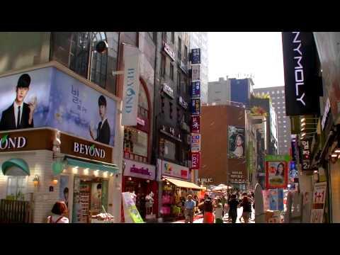 2017 首爾自由行 - 世宗前6001、6015機場巴士站步行往明洞9 Tree九樹、Sky Park天園1、Metro酒店