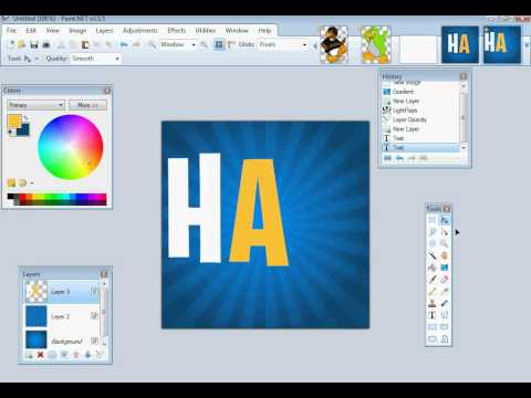 How to Make A Twitter Icon - With Lightrays