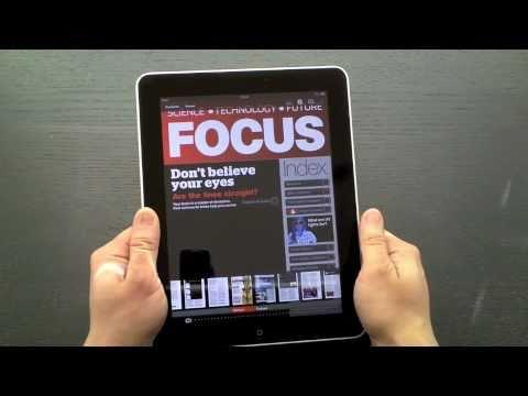 BBC Focus magazine iPad app