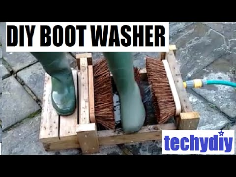 How to make a diy boot cleaner washer scrubber