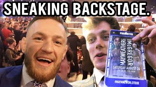 Sneaking backstage at the McGregor vs Mayweather Press conference in London