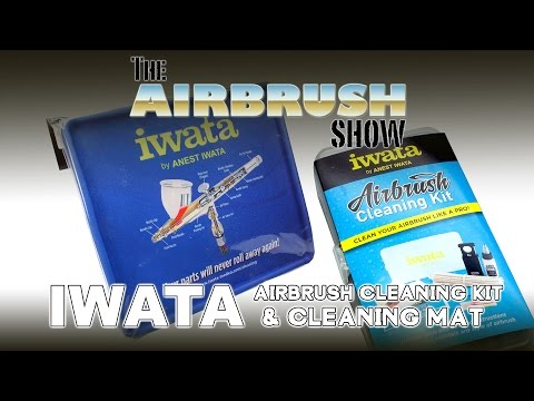 IWATA AIRBRUSH CLEANING KIT & CLEANING MAT - THE AIRBRUSH SHOW EP06