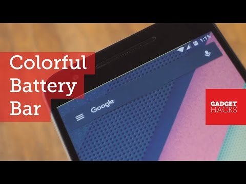 Get a Subtle & Colorful Battery Indicator on Android [How-To]