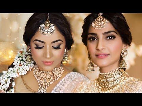 SONAM KAPOOR WEDDING SANGEET FULL LOOK (MAKEUP & HAIRSTYLE)