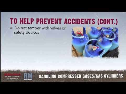 Toolbox Talk: Compressed Gases & Gas Cylinders