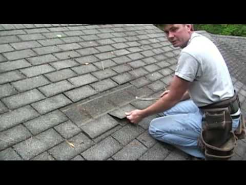 How to remove shingles to do a repair
