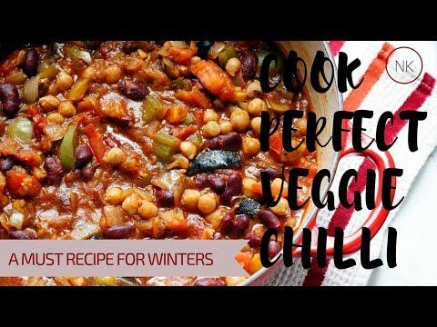 How To Make Veggie Chili | Vegan Chili Recipe Quick and Easy | Vegetarian Chilli | Nainja Kapoor