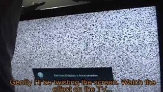 How To Fix Repair Vertical Lines On Half Of Lcd Tv Screen