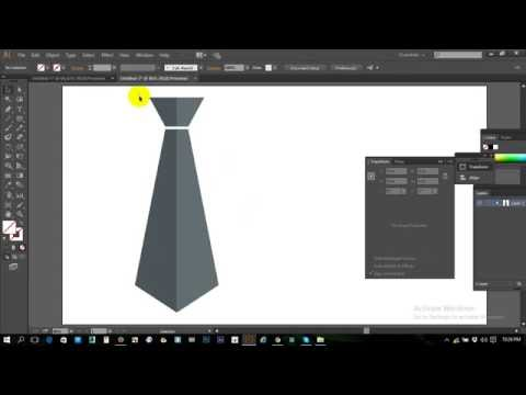 vector tie design by illustrator Fashion flat sketch in Illustrator pen tool  Illustrator tutorial.