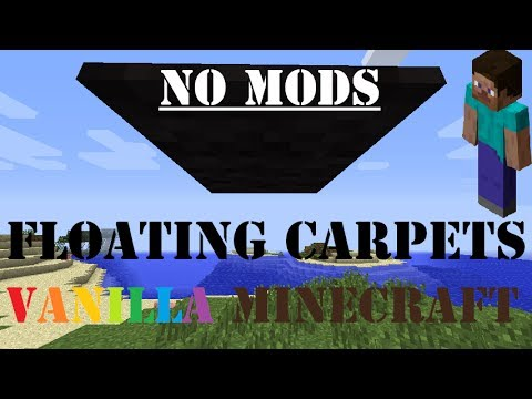 How To Get Floating Carpets In Minecraft Vanilla (Latest version [Also Multiplayer])